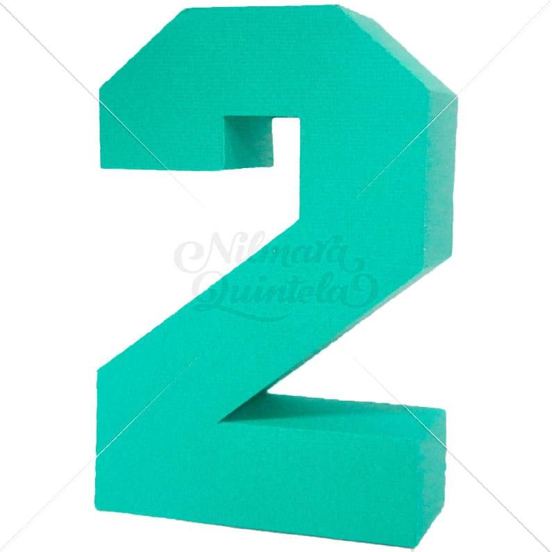 Número Quadrado 3D 2