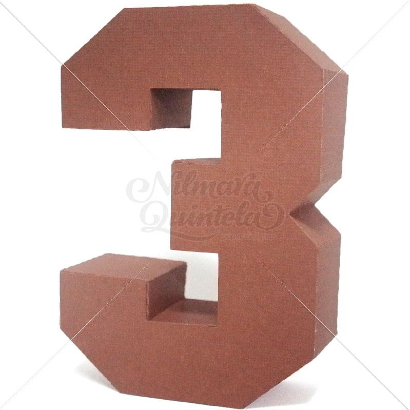 Número Quadrado 3D 3
