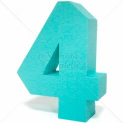 Número Quadrado 3D 4