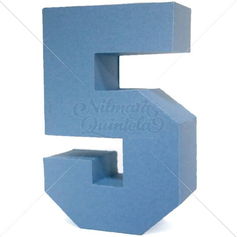 Número Quadrado 3D 5
