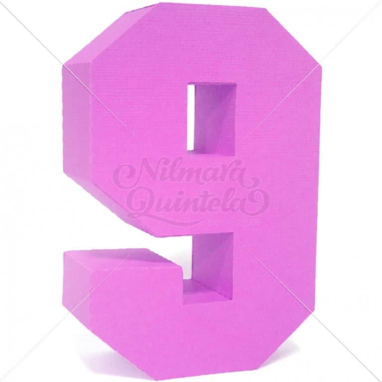 Número Quadrado 3D 9