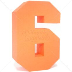 Número Quadrado 3D 6