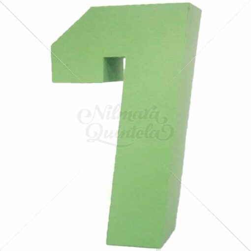 Número Quadrado 3D 7