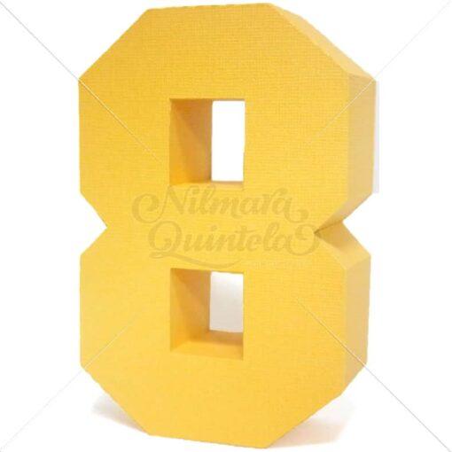 Número Quadrado 3D 8