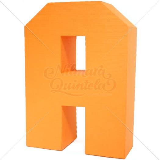 Letra Quadrada 3D A