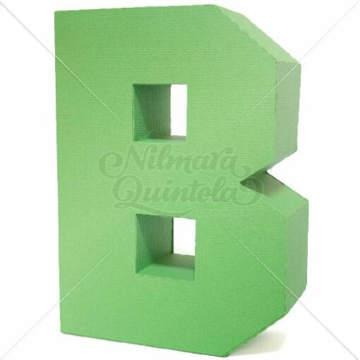 Letra Quadrada 3D B