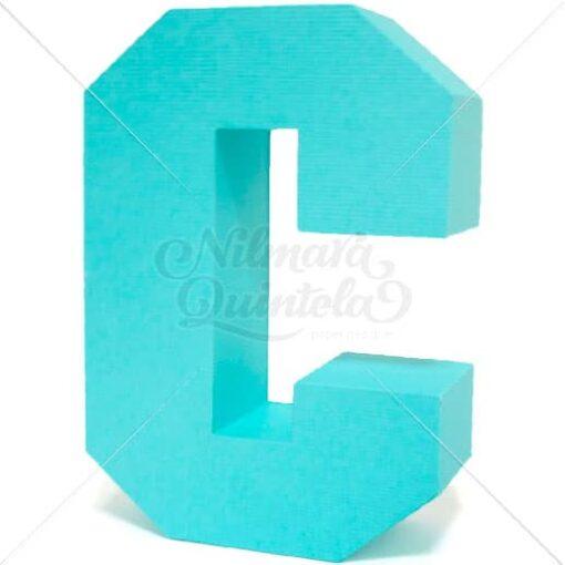 Letra Quadrada 3D C