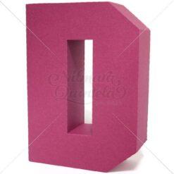 Letra Quadrada 3D D
