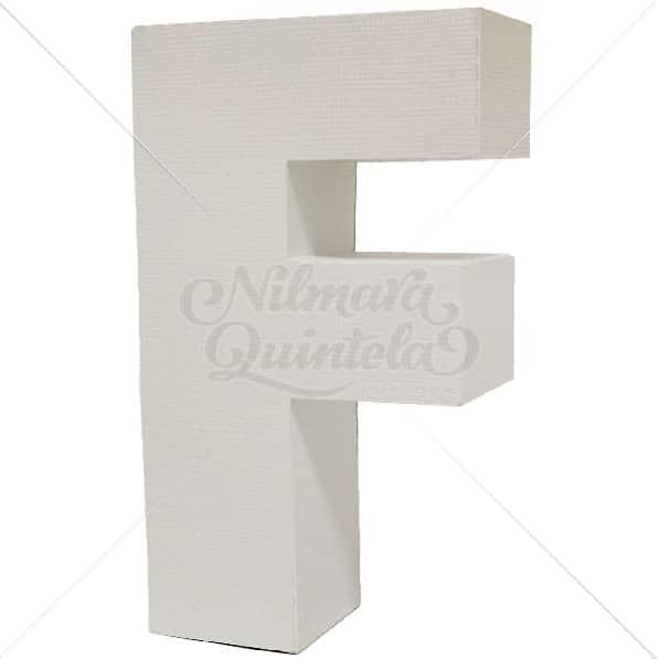 Letra Quadrada 3D F