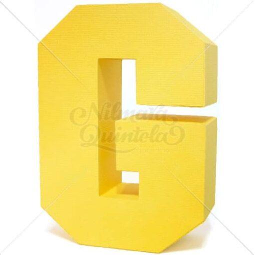 Letra Quadrada 3D G