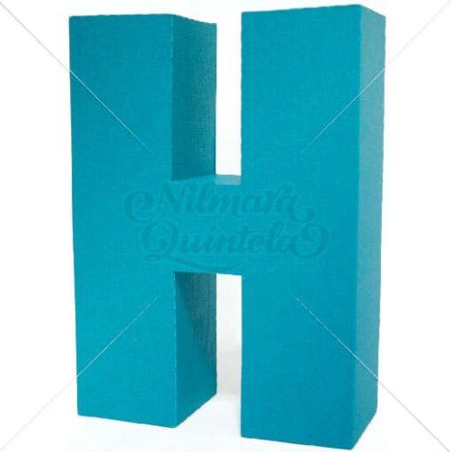 Letra Quadrada 3D H