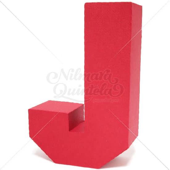 Letra Quadrada 3D J