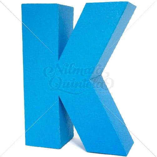 Letra Quadrada 3D K