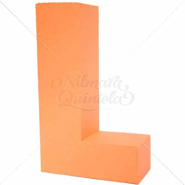Letra Quadrada 3D L