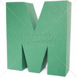 Letra Quadrada 3D M