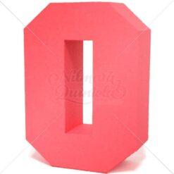 Letra Quadrada 3D O
