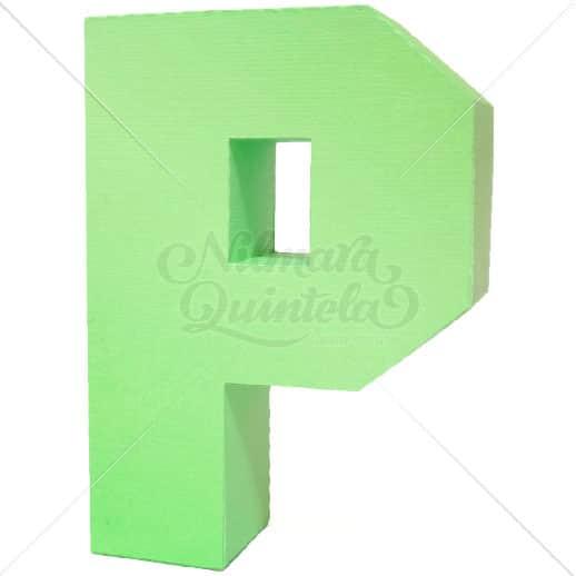 Letra Quadrada 3D P