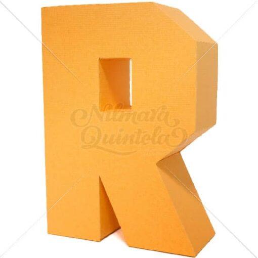 Letra Quadrada 3D R