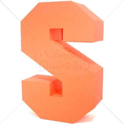 Letra Quadrada 3D S