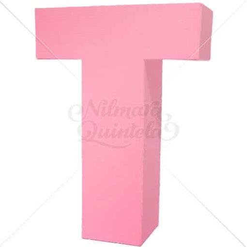 Letra Quadrada 3D T