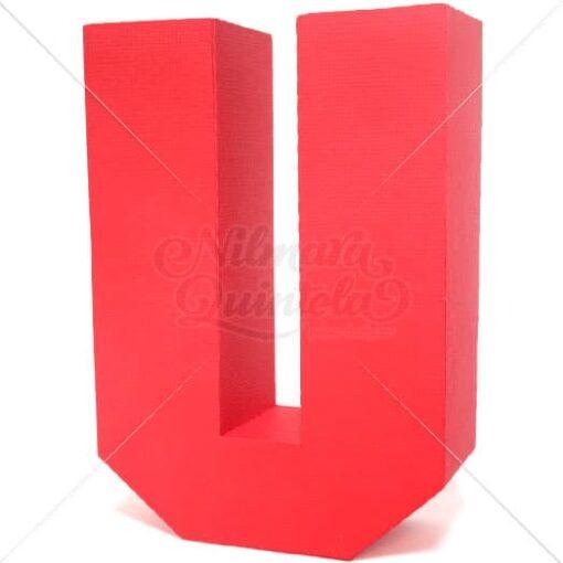 Letra Quadrada 3D U