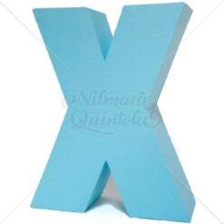 Letra Quadrada 3D X