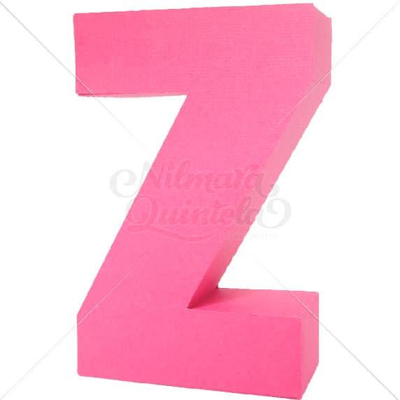 Letra Quadrada 3D Z