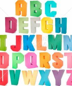 Pacote - Letras Quadradas 3D