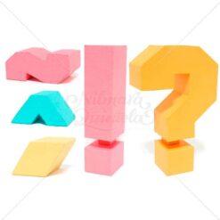 Pacote - Acentos e Sinais Quadrados 3D