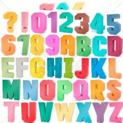 Pacote - Letras, Sinais, Números e Acentos Quadrados 3D