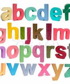 Pacote - Letras Minúsculas 3D