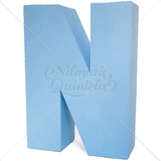 Letra Quadrada 3D N