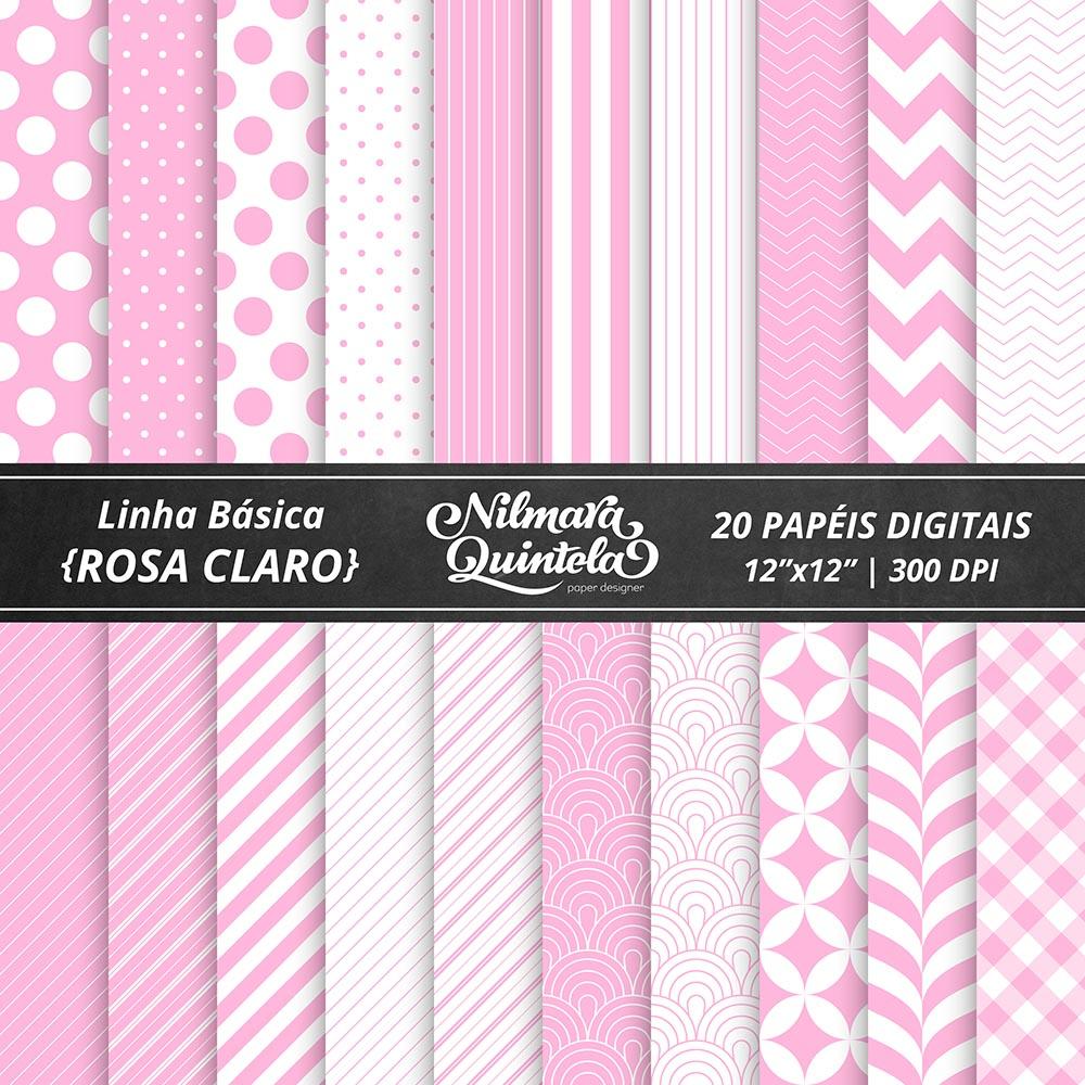 136a4a8f2ee Kit de Papéis Básicos – Rosa Claro – Nilmara Quintela Paper Designer.