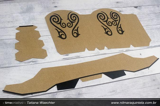 Pap Bota Cowgirl 3D – Nilmara Quintela Paper Designer. df86790f211
