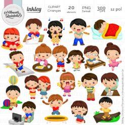 Clipart Crianças fazendo atividades