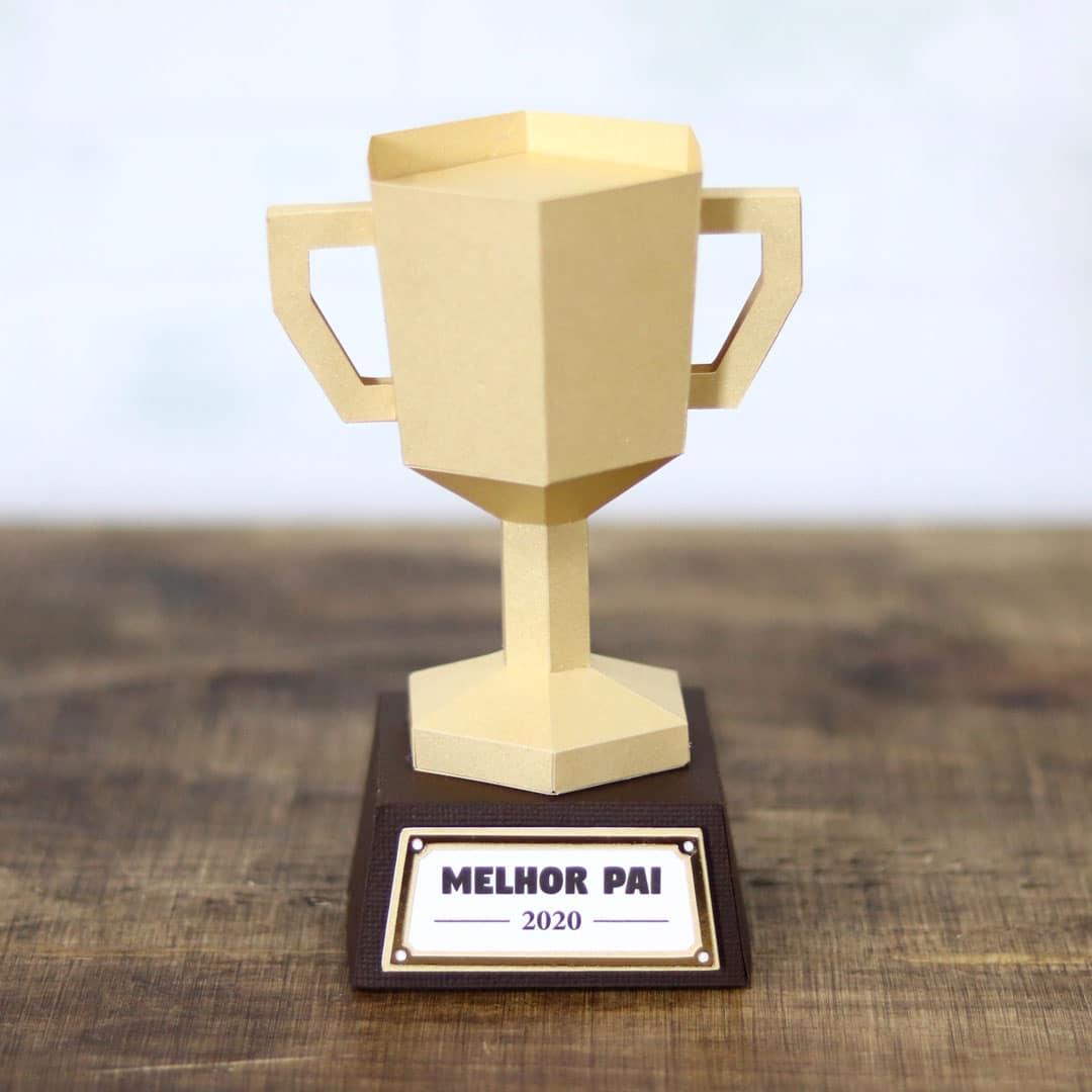 Arquivo de corte caixa troféu dia dos pais Silhouette