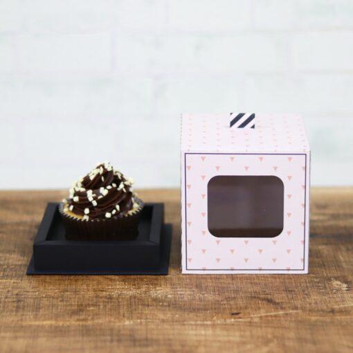 Arquivo caixa com visor para cupcake