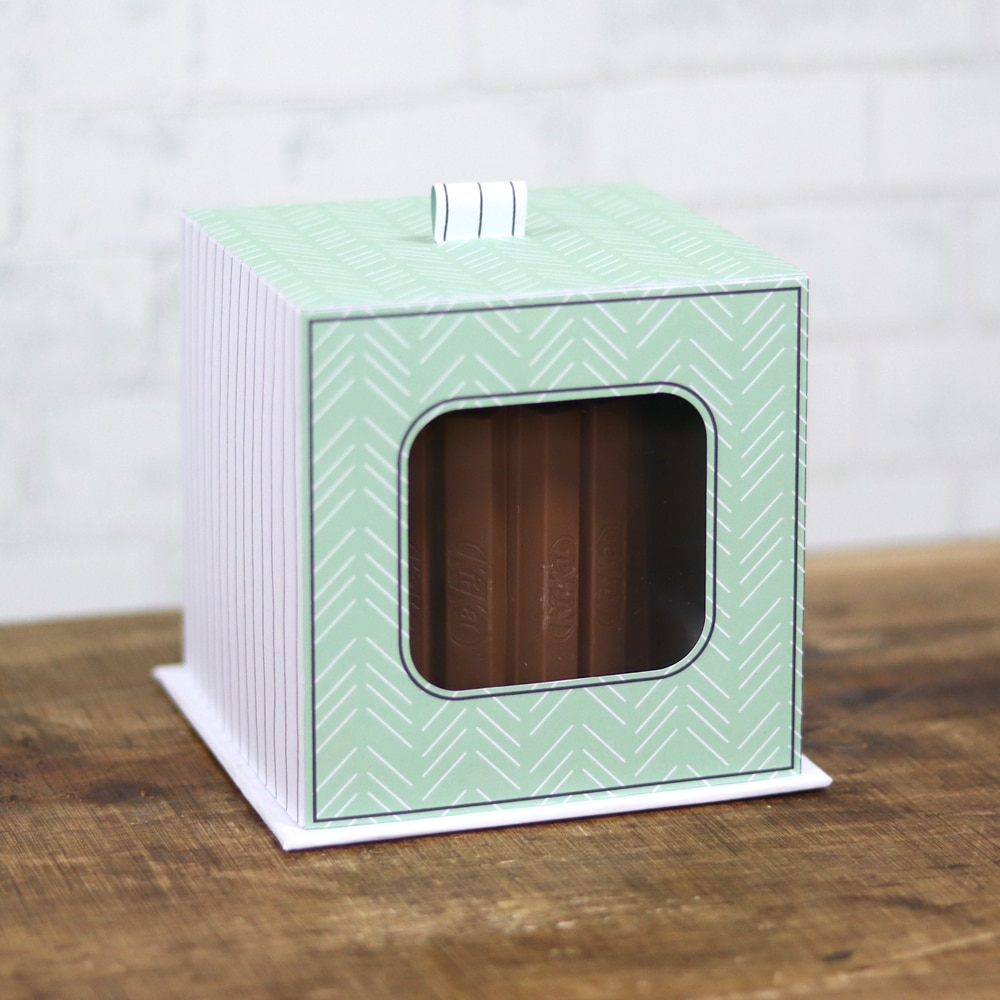 Arquivo caixa com visor para mini bolo