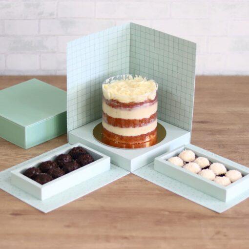 Caixa Cenário para bolo e doces