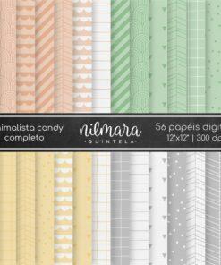 Papéis Digitais Minimalista Candy