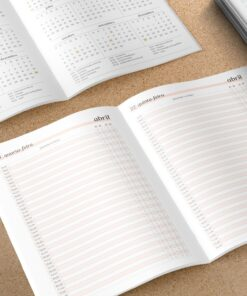 Miolo para Caderno de agendamento Médico/Dentista | Datado - A5 - Costura