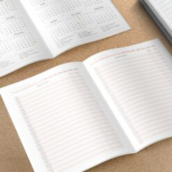 Miolo para Caderno de agendamento Médico/Dentista | Não Datado - A5 - Costura