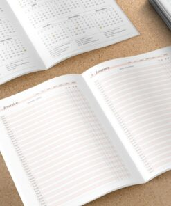 Miolo para Caderno de agendamento Médico/Dentista | Permanente - A5 - Costura