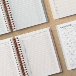 Miolo para Caderno de agendamento Médico/Dentista | Não Datado - A5 - Wire-o/Espiral