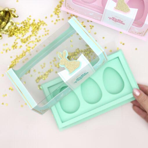 Caixa | Trio de Ovos de colher 50g - Royal - A Bem Dita | Imprima, corte e monte