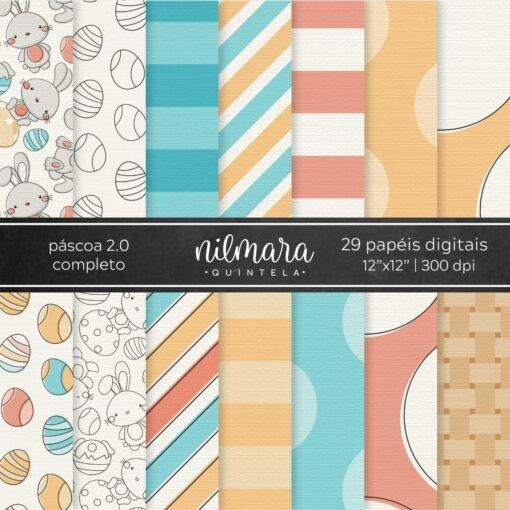 Kit de Papéis Digitais Páscoa 2.0   Completo